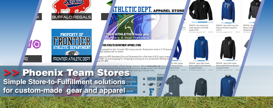 Phoenix Team Stores: Simple Store-to-Fulfillment solutions for your custom gear